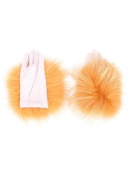 Tsumori Chisato 'Yeti' Gloves Yellow Orange