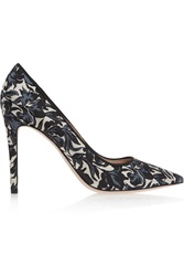 Tory Burch Olexa Printed Canvas Pumps