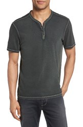 John Varvatos Men's Star Usa Snap Short Sleeve Henley Seaweed