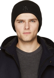 Surface To Air Black Embroidered Logo Tyco Beanie
