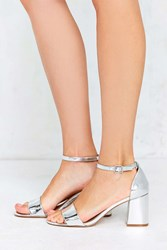 Urban Outfitters Linda Silver Heel