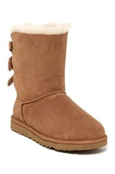 Ugg Baily Bow Corduroy Genuine Shearling Fur Boot Brown