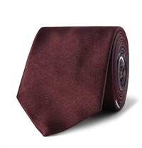 Dries Van Noten 6Cm Silk Jacquard Tie Burgundy