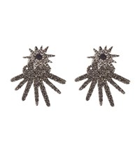 Oscar De La Renta Celestial Star Back Drop Earrings Female Silver