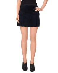 Armani Jeans Mini Skirts Dark Blue