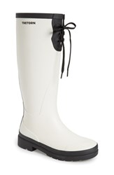 Tretorn Women's 'Lacey' Rubber Boot White Black