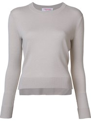 Organic By John Patrick Crew Neck Jumper White