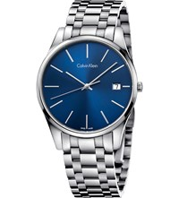 Calvin Klein Time Blue Stainless Steel Watch Black