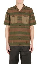 Kolor Combo Short Sleeve Shirt Green