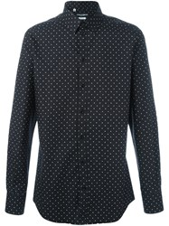 Dolce And Gabbana Polka Dot Shirt Black