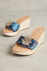Anthropologie Dr. Scholl's Enya Wedge Sandals Blue