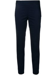 Alberto Biani Mid Rise Cropped Trousers Blue
