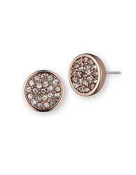 Anne Klein Rose Goldtone Glitz Disc Earrings