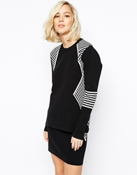 Gestuz Knitted Jumper In Monochrome