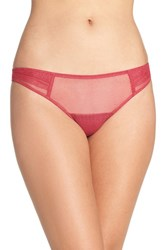 Ongossamer Women's On Gossamer Pleat Front Thong Garnet