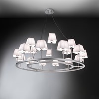 Bover Lampara Xviii Incandescent Chandelier Cream Grey Red