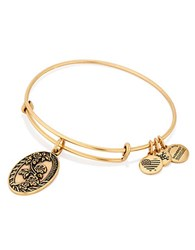 Alex And Ani Granddaughter Charm Bangle Gold