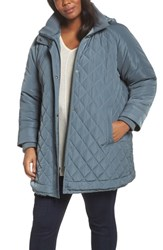 Gallery Plus Size Women's Quilted Hooded Jacket Patina
