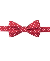 Countess Mara Holiday Red With White Dot Pre Tied Bow Tie