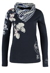 Desigual Tracy Long Sleeved Top Navy Blue