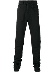 Diesel Black Gold Drawstring Slim Fit Jeans Black