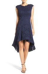 Betsy And Adam Women's Backless Lace High Low Dress