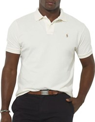 Polo Big And Tall Classic Fit Mesh Shirt Cream