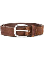 Orciani Distressed Finish Belt Brown