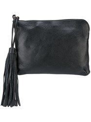 L'autre Chose Tassel Detailing Small Clutch Black