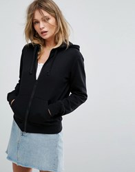 New Look Zip Up Hoodie Black