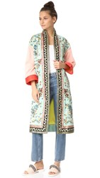 Alice Olivia Amelia Embroidered Kimono Coat Multi