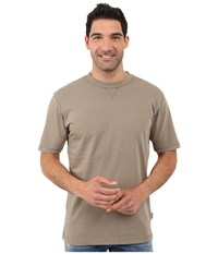 Woolrich First Forks Solid Tee Shale Men's T Shirt Brown