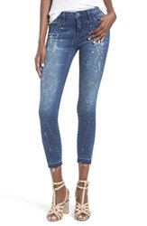 Blank Nyc Women's Blanknyc Paint Splatter Crop Skinny Jeans Reef Blower