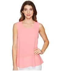 Ellen Tracy Flounce Hem Shell Blossom Pink Women's Clothing