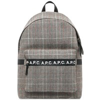 A.P.C. Saville Check Backpack Black
