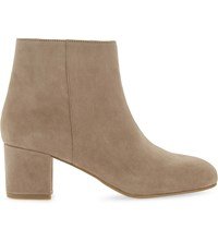 Aldo Ciredia Suede Heeled Ankle Boots Beige