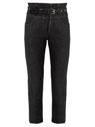 Isabel Marant Evera High Rise Cropped Jeans Black