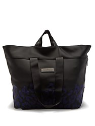 Adidas By Stella Mccartney Oversized Neoprene Tote Black Purple
