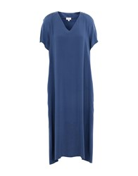 Her Shirt 3 4 Length Dresses Dark Blue