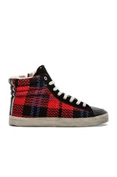 Kim And Zozi Plaid Sneaker Red
