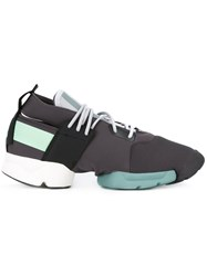 Y 3 Kydo Trainers Men Leather Neoprene Rubber 10 Grey