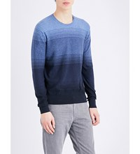Michael Kors Ombre Knitted Jumper Midnight Ombre