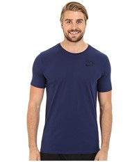 Nike Elite Back Stripe Tee Midnight Navy Midnight Navy Obsidian Men's T Shirt Blue