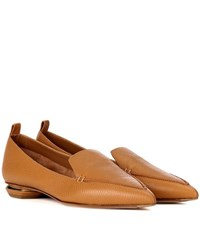 Nicholas Kirkwood Beya Leather Loafers Brown