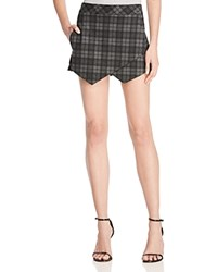 Aqua Plaid Skort Grey Black