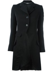 Alexander Mcqueen Single Breasted Coat Black