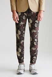 Forever 21 Palm Camo Chino Joggers Black Brown