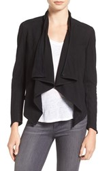 Lamarque Women's Asymmetrical Suede Jacket Black