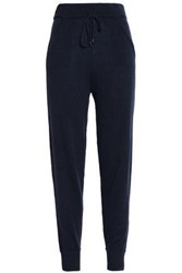 N.Peal Cashmere Track Pants Midnight Blue