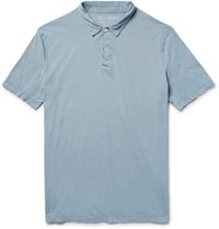 Hartford Cotton Jersey Polo Shirt Light Blue